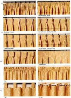 Diffe Type Of Drapery Pleats D And Blinds Types Curtains Pleated
