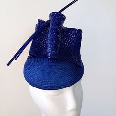 @fascinating_hats 2015 Cobalt blue will still be big this year we think. Especially this combination of Swiss braid and straw. #fascinators #fashionsonthefield #racing #hats #headpieces #flemington #springracingfashion #foth