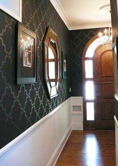 Royal Design Studio Moorish Trellis Wall Stencil for DIY Painting - Designer Wallpaper Look Hm Deco, Wall Paint Patterns, Painting Patterns, Moroccan Wall Stencils, Wall Stenciling, Bathroom Stencil, Stencil Walls, Damask Stencil, Design Bathroom