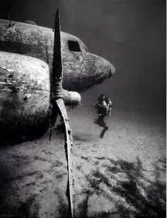 <b>Underwater</b> <b>abandoned</b> DC3 airplane | Beautifully <b>abandoned</b> | Pinterest