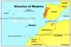 Map of Situation of Madeira | PlanetWare