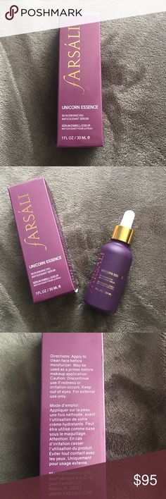 Farsali Farsali unicorn essence skin enhancing antioxidant serum 1fl /30 ml this is authentic it was open and used only once so like new farsali  Makeup