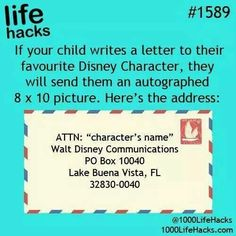 Disney UPDATE!!! My sister actually sent a letter to Elsa at this address, and…