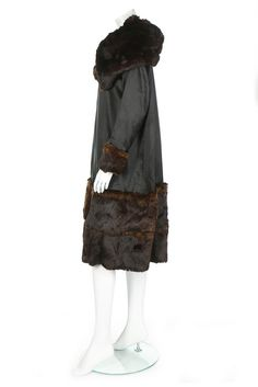 Coat (image 3) | Gabrielle Chanel | 1918-1920 | satin, silk, fur | Kerry Taylor Auctions | December 12, 2016 | Early and rare Chanel creation.