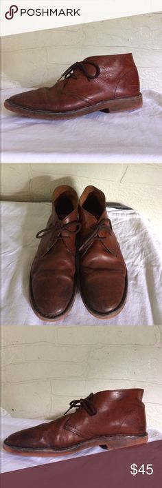 J Crew Desert Boot Brown Leather Men Ankle Chukka Condition 7 / 10 🍂 Insole is 10.93 inches J. Crew Shoes Boots