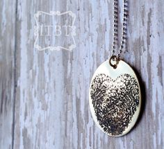 Custom Fingerprint Necklace with the Prints of Your Loved One(s) by InTheBeanTime, $75.00