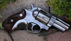 Ruger Speed Six, magnum. Service Grips with a Tyler T Grip installed. 357 Magnum, Rifles, Ruger Revolver, Revolvers, Bushcraft, Custom Guns, Military Guns, Home Defense, Cool Guns