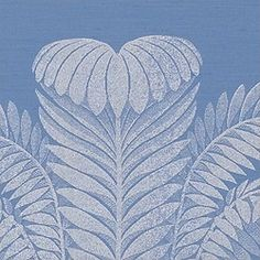 PALM DAMASK, Blue, T9373, Collection Damask Resource from Thibaut