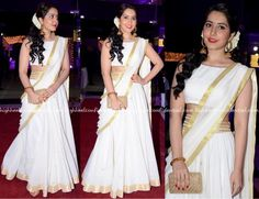 Rashi Khanna Latest Hot Glamourous White Trendy Dress PhotoShoot Images At DVV Danayya Daughters Wedding Reception actress rashi khanna Dress Indian Style, Indian Wear, Indian Outfits, Traditional Dresses Designs, Half Saree Designs, South Indian Sarees, Photoshoot Images, Indian Gowns Dresses, Indian Models