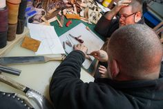 Mark and Ross start to plan out the design of the sheath.