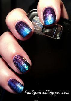Step by step: kék-lila színátmenetes köröm ~ Ani - smink és köröm