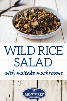 Maitake Wild Rice Salad - Been searching for a good maitake mushroom recipe? Try this wild rice salad with mushrooms! Vegetarian Mushroom Recipes, Best Mushroom Recipe, Vegetarian Recipes Dinner, Maitake Mushroom, Mushroom Salad, Healthy Side Dishes, Vegetable Side Dishes, Vegetable Drinks, Healthy Eating Tips