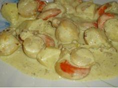 Recette - Noix de Saint Jacques à la crème au curry | Notée 4.2/5