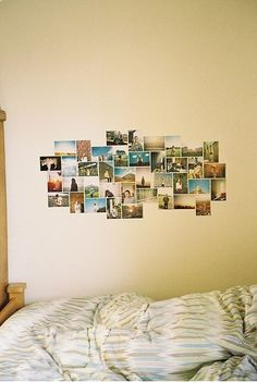 dorm room - picture collage