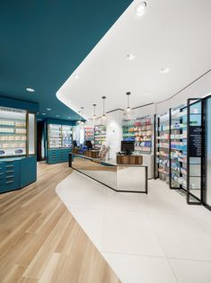 MEDD will inspire you with unique medical design ideas. We will share trends, interior design, lifestyle, contract and all about medical architecture. Supermarket Design, Retail Store Design, Design Clinique, Pharmacy Store, Pharmacy School, Pharmacy Humor, Pharmacy Technician, Online Pharmacy, Showroom Interior Design