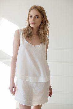 BRUNO NOWI >>> GRADUAL COTTON DRESS <<<