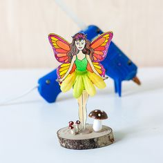 DIY: Fairy In A Jar (with a free printable fairy)