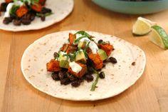 In Season – Vegan Sweet Potato Tacos with Creamy Basil Lime Sauce