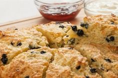 Healthy Zesty Blueberry Scones