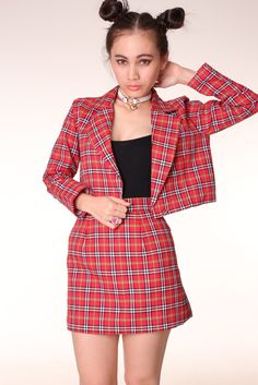 Image of Made To Order - Red Tartan Blazer by GFD