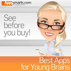 Appysmarts - Best apps for kids - One of the best recommendation systems for apps for kids, plus lists of top educational apps in various categories - daily informative reviews and grades, rankings, promo codes, and free offers.  Search by themes.  Good info.  Helpful site.