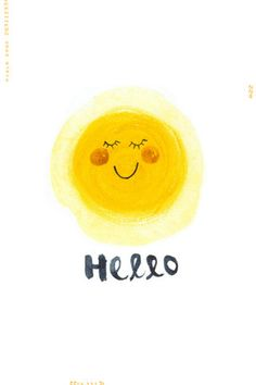 Items similar to Hello Sunshine illustration digital art print - on Etsy Hello Sunshine, You Are My Sunshine, Happy Sunshine, Frases Humor, Illustration, Mellow Yellow, Happy Thoughts, Happy Day, Happy Weekend