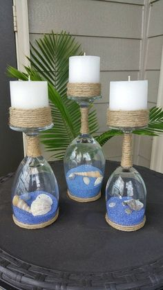 Great DIY!! #diyhomedecor #coastalliving #coastaldecor #nauticaldecor #denisedeihl