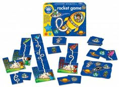Orchard Toys Rocket Game a fun filled space themed number and counting game for children age 4-7.