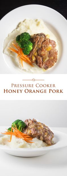 Tender and moist Pressure Cooker Honey Orange Pork in a sweet and zesty sauce. The well-balanced flavors make it so deliciously easy to eat!
