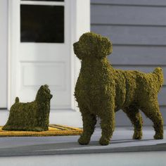 These Canine Garden Topiaries are available from Hammacher Schlemmer and are priced from $99.95 to $349.95, depending on the breed you want.