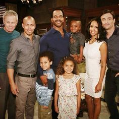 Tristan Rogers, Bryton James, Aidan Clark, Kristoff St John, Randall Smith, McKenna Roberts, Christel Khalil & Daniel Goddard bts at CBS Studios on May 9, 2014