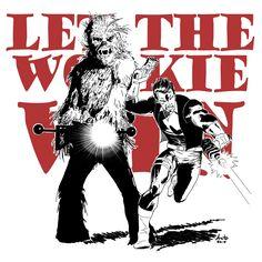 Han Solo & Chewbecca by Antonio Palumbo #Letthewookiewin