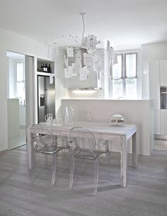 pranzo Kitchen Design, Sweet Home, New Homes, Shabby, Vanity, Dining, Chair, Interior, Open Space