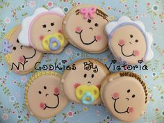 DSCF1907f by NYCookiesByVictoria, via Flickr No Bake Sugar Cookies, Baby Cookies, Baby Shower Cookies, Iced Cookies, Cute Cookies, Cupcake Cookies, Cookies Et Biscuits, Cupcakes, Cookie Favors