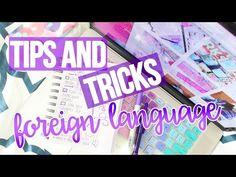 TIPS & TRICKS ♡ FOREIGN LANGUAGE - YouTube