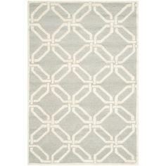 Safavieh Handmade Moroccan Cambridge Light Grey/ Ivory Wool Rug (3' x 5') | Overstock.com Shopping - Great Deals on Safavieh 3x5 - 4x6 Rugs