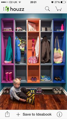 Looking for Storage and Utility and Mudroom ideas? Browse Storage and Utility and Mudroom images for decor, layout, furniture, and storage inspiration from HGTV. Family Room Design, Kids Decor, Home Decor, Room Organization, Storage Spaces, Storage Ideas, Kids Storage, Storage Solutions, Shelving