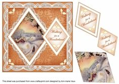 Winter Sunset Walking in Wonderland 7in Double Diamond Topper on Craftsuprint - View Now!