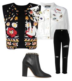 """Sans titre #11"" by agathe-renard on Polyvore featuring mode, Valentino, Nasty Gal, Moschino et River Island"
