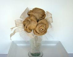 Hey, I found this really awesome Etsy listing at https://www.etsy.com/listing/116754443/burlap-toss-bouquet-brides-toss-bouquet
