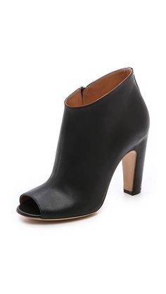 102ac53f7516e Maison Martin Margiela Leather Open Toe Booties Stepper