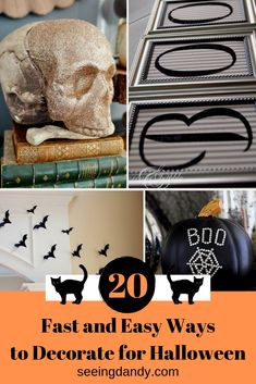 So many great DIY Halloween decoration ideas. Perfect looks for a Halloween party, too! #diy #halloween #decorating #homedecor #momllife #halloweenparty