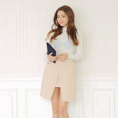Apricot Irregular Skirt http://koreanfashionworld.com/product/apricot-irregular-skirt http://koreanfashionworld.com/category/korean-skirt