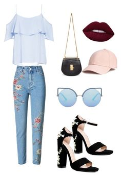 """Untitled #34"" by dedic-elvira ❤ liked on Polyvore featuring Boohoo, Chloé, BB Dakota and Matthew Williamson"