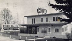 Whiteis Motel in Owatonna, MN from 1953 postcard.  Located at that time at junction of Hwy. 218 and 14 East.