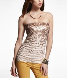 a14f573a02 SEQUIN EMBELLISHED TUBE TOP at Express  19.99 -30% Express Jeans