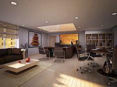 Diseño interior de la oficina moderna
