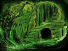 GRÜNE GROTTE, Acryl auf Leinwand, 80 x 60 cm von Runa Argeya
