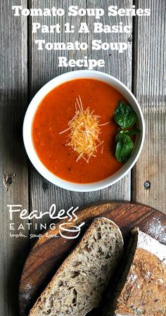 Fresh Tomato Soup Series Part A Basic Tomato Soup Recipe Fresh Tomato Soup, Tomato Soup Recipes, Easy Soup Recipes, Real Food Recipes, Scotch Broth, Making Bone Broth, Beefsteak Tomato, Soup Broth, Food Garnishes