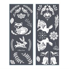 Stencil Patterns, Stencil Designs, Pattern Art, Art Patterns, Folk Art Flowers, Flower Art, Restore Paint, Polish Folk Art, Scandinavian Folk Art